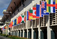 Quadrato del villaggio del villaggio olimpico della gioventù Fotografia Stock Libera da Diritti