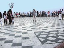 Quadrato dell'Italia Taormina IX aprile Immagini Stock Libere da Diritti