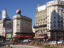 Quadrato dell'obelisco di Buenos Aires Fotografia Stock Libera da Diritti