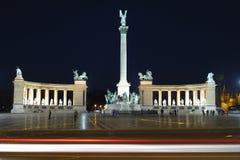 quadrato dell'Ungheria degli eroi di Budapest Immagini Stock Libere da Diritti