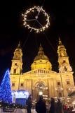 Quadrato della basilica a christmastime immagine stock libera da diritti