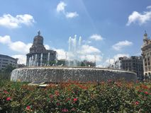 Quadrato della Catalogna fotografia stock libera da diritti