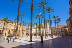 Quadrato della cattedrale a Almeria, Spagna Fotografia Stock Libera da Diritti