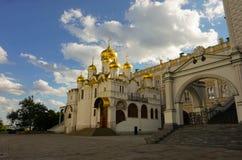 Quadrato della cattedrale del Cremlino immagine stock libera da diritti