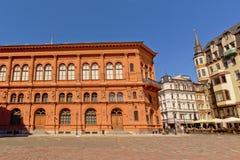 Quadrato della cattedrale di Riga Immagini Stock