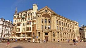 Quadrato della cattedrale di Riga, Lettonia Immagini Stock Libere da Diritti
