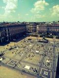 Quadrato della cattedrale a Milano immagine stock
