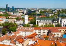 Quadrato della cattedrale a Vilnius Immagini Stock Libere da Diritti