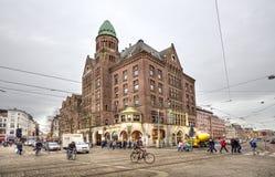 Quadrato della diga a Amsterdam Immagini Stock Libere da Diritti