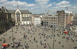 Quadrato della diga a Amsterdam immagine stock libera da diritti