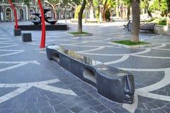 Quadrato della fontana Immagini Stock