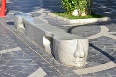 Quadrato della fontana Fotografia Stock