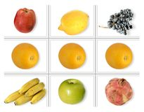 Quadrato della frutta Immagini Stock