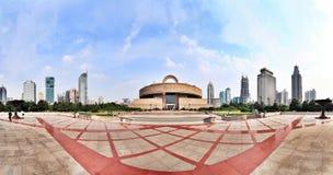 Quadrato della gente di Schang-Hai panoramico Immagini Stock Libere da Diritti