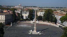 Quadrato della gente e quadrato dei leoni a Roma archivi video