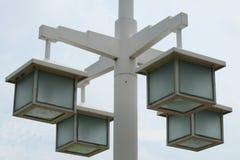Quadrato della lampada Fotografie Stock