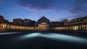 Quadrato della notte di plebiscito, Napoli, campania, Italia, Europa Fotografia Stock Libera da Diritti