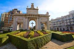 Quadrato della porta di marzo della La del de di porta di Valencia Puerta Fotografia Stock