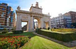 Quadrato della porta di marzo della La del de di porta di Valencia Puerta Immagine Stock Libera da Diritti