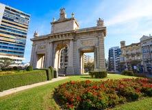 Quadrato della porta di marzo della La del de di porta di Valencia Puerta Fotografie Stock