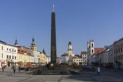 Quadrato della rivolta slovacca di nazione Fotografia Stock