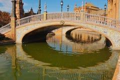 Quadrato della Spagna dei ponticelli Immagini Stock Libere da Diritti