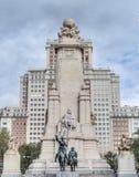 Quadrato della Spagna nella capitale spagnola Fotografie Stock