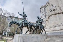 Quadrato della Spagna nella capitale spagnola Fotografia Stock