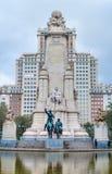 Quadrato della Spagna nella capitale spagnola Immagini Stock
