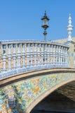 Quadrato della Spagna in Siviglia, Andalusia, Spagna immagine stock libera da diritti