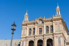 Quadrato della Spagna in Siviglia, Andalusia, Spagna Fotografie Stock Libere da Diritti