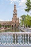 Quadrato della Spagna, Siviglia, Spagna (Plaza de Espana, Sevilla) Fotografia Stock