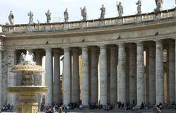 Quadrato della st Peter s, Roma Immagini Stock