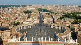 Quadrato della st Peter a Vatican, Roma Fotografia Stock