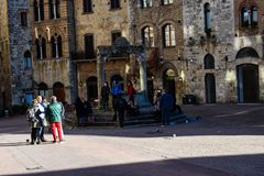 Quadrato della Toscana, dell'Italia e della gente Fotografia Stock Libera da Diritti