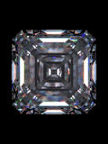Quadrato dello smeraldo del diamante Fotografie Stock Libere da Diritti