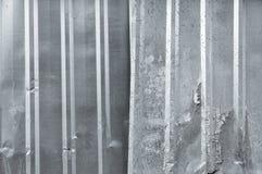 Quadrato di alluminio del metallo del fondo del primo piano del vecchio zinco verticale di struttura Immagini Stock Libere da Diritti