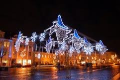 Quadrato di angeli di Natale Fotografie Stock