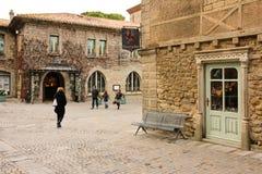 Quadrato di Auguste Pierre Pont Carcassonne france fotografia stock libera da diritti