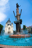 Quadrato di Avram Iancu - di Cluj-Napoca Fotografie Stock Libere da Diritti