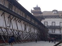 Quadrato di Basantapur Durbar fotografie stock