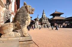 Quadrato di Bhaktapur Durbar fotografie stock libere da diritti