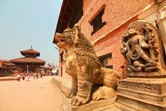 Quadrato di Bhaktapur Durbar alla valle di Kathmandu, Nepal fotografie stock