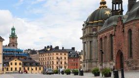 Quadrato di Birger Jarls Torg nella città di Stoccolma Fotografia Stock Libera da Diritti