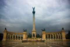 Quadrato di Budapest degli eroi Fotografia Stock Libera da Diritti