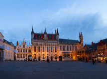 Quadrato di Burg, Bruges immagine stock