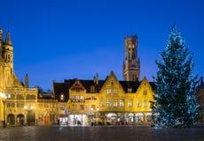 Quadrato di Burg a Bruges, Belgio immagini stock