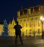 Quadrato di Burg a Bruges, Belgio fotografia stock