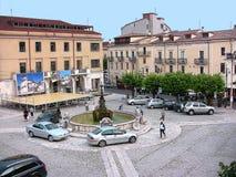 Quadrato di Castel di Sangro Plebiscito Fotografie Stock