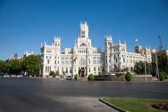 Quadrato di Cibeles a Madrid Immagine Stock Libera da Diritti